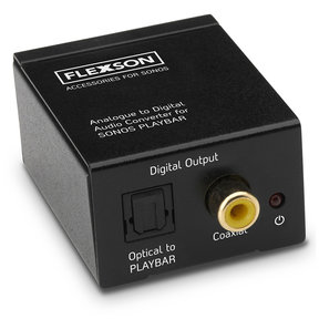 Analogue to Digital Audio Converter for Sonos PLAYBAR and PLAYBASE
