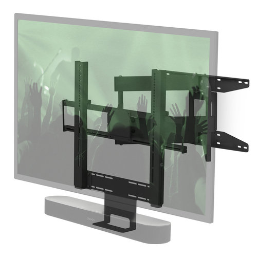"""View Larger Image of Cantilever Mount for 40"""" - 65"""" TV and Sonos Beam or Sonos PLAYBAR (Black)"""