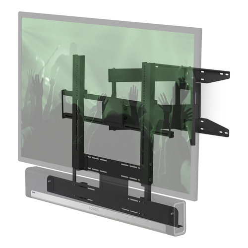 "View Larger Image of Cantilever Mount for 40"" - 65"" TV and Sonos Beam or Sonos PLAYBAR (Black)"