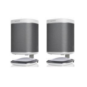 Lighted Desktop Speaker Stands for Sonos PLAY 1 with USB Charger - Pair