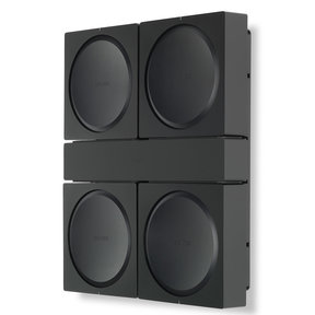 Wall Mount for 4 Sonos AMPs (Black)