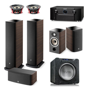 Aria 5.1.2 Home Theater System with Marantz SR7013 9.3-Channel AV Receiver