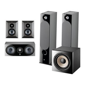 Chora 5.1.2 Surround Sound Speaker Package with Built-In Dolby Atmos Modules and On-Wall Surround Speakers (Black)