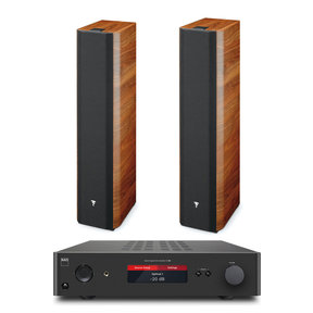 Chorus 716 2 1/2 Way Bass Reflex Floorstanding Speaker (Pair) with NAD C368 Hybrid Digital DAC Amplifier