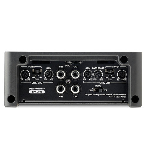 View Larger Image of FPX 4.800 120 Watts x 4 Compact Class D 4-Channel Amplifier
