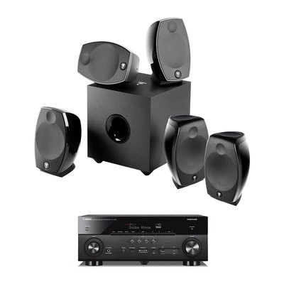 focal sib evo 5 1 2 home cinema system with yamaha rx a780. Black Bedroom Furniture Sets. Home Design Ideas