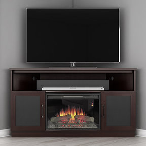 "60"" FT60CCCFB Corner Electric Fireplace TV Stand (Wenge)"