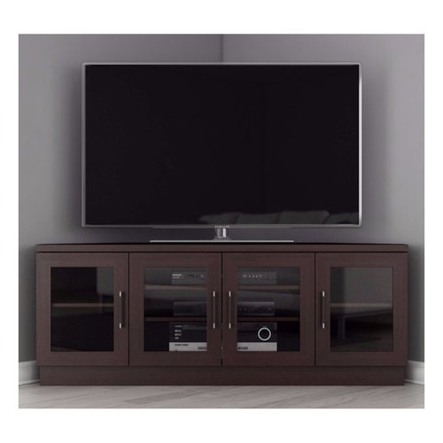 "View Larger Image of 60"" FT60CCCW Corner TV Stand Media Console (Wenge)"