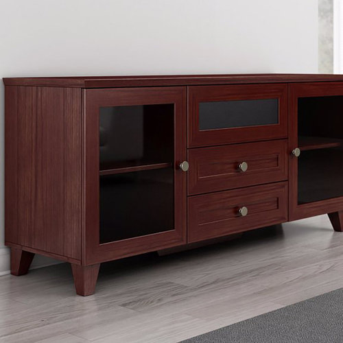 "View Larger Image of 61"" FT61SCDC TV Stand Media Console (Dark Cherry)"