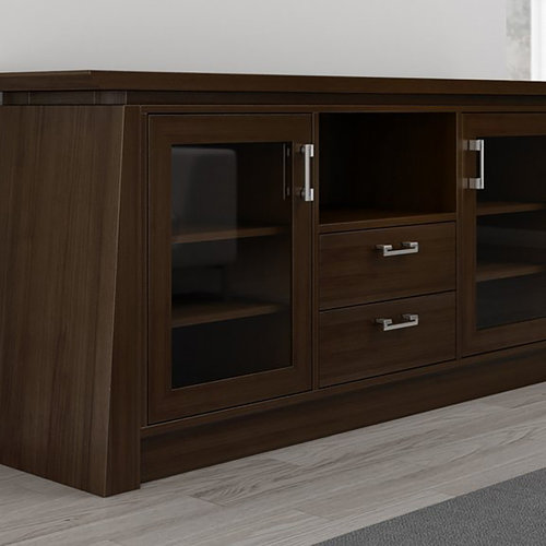 "View Larger Image of 70"" ELEGANTE TV Stand Media Console (Brown Cherry Wood)"