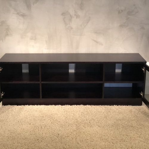 "View Larger Image of 70"" FT70CCW Contemporary TV Stand Media Console (Wenge)"