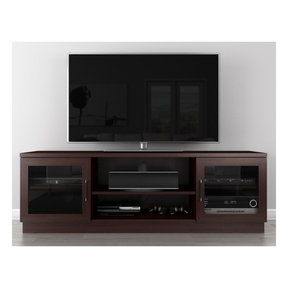 "70"" FT70CCW Contemporary TV Stand Media Console (Wenge)"
