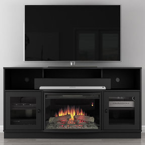 "70"" FT70SCFB Electric Fireplace TV Stand (Dark Cherry)"