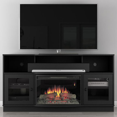 """View Larger Image of 70"""" FT70SCFB Electric Fireplace TV Stand (Dark Cherry)"""