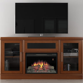 "70"" FT70TRFB Electric Fireplace TV Stand (Light Cherry)"