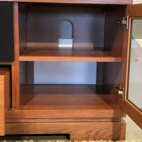 """View Larger Image of 70"""" FT70TT TV Stand Media Console (American Cherry Wood)"""