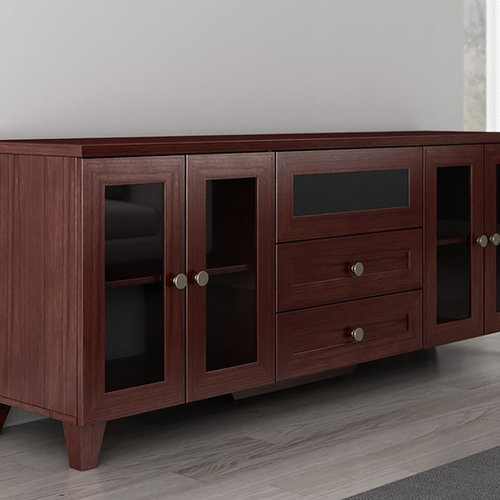 "View Larger Image of 70"" FT72SCDC TV Stand Media Console (Dark Cherry)"