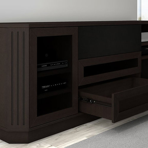 """View Larger Image of 78"""" FT78CL Transitional TV Console (Dark Brown Wenge)"""
