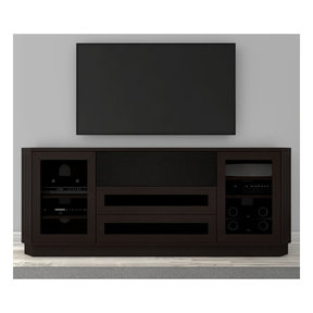 "78"" FT78CL Transitional TV Console (Dark Brown Wenge)"