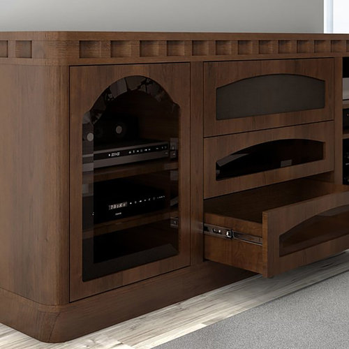 """View Larger Image of 78"""" FT78TR Transitional TV Console (Cognac)"""