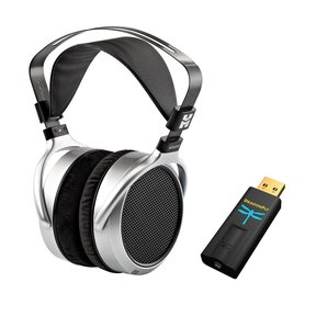 HE-400S Planar Magnetic Over-Ear Headphones with Audioquest DragonFly Black USB DAC