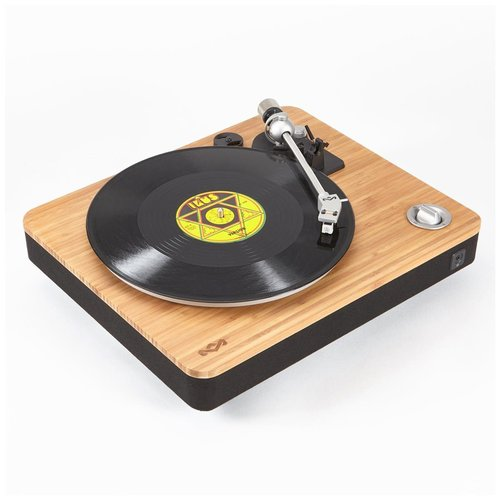 View Larger Image of Stir It Up Natural Bamboo Turntable with Built-in Pre-Amp (Signature Black)