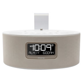 iDL46 Dual Charging Stereo FM Clock Radio With Lightning Dock for iOS