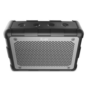Impact Level 2 Portable Waterproof Floating Bluetooth Speaker (Black)