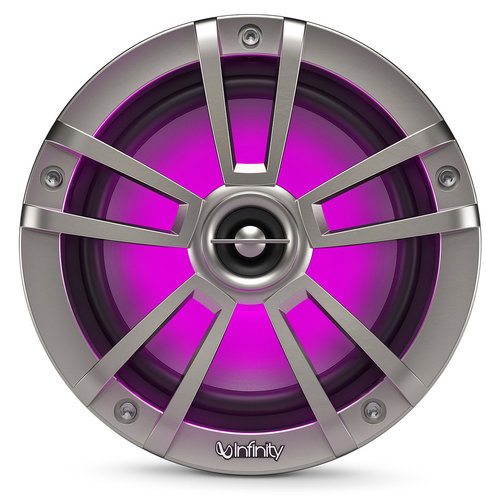 "View Larger Image of 622MLT 6-1/2"" Marine 2-Way Coaxial Speakers in Titanium Finish with RGB Lighting"