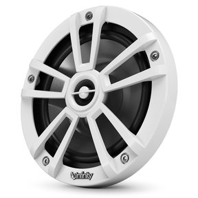"""622MLW 6-1/2"""" Marine 2-Way Coaxial Speakers in White Finish with RGB Lighting"""