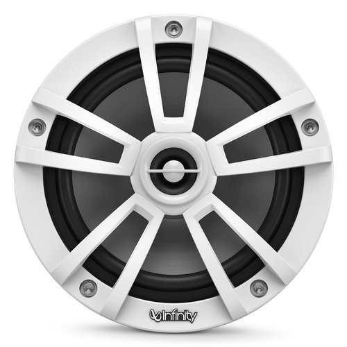 """View Larger Image of 622MLW 6-1/2"""" Marine 2-Way Coaxial Speakers in White Finish with RGB Lighting"""
