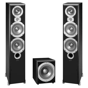 """Primus P363 2.1 Channel Home Theater Speaker Package with 10"""" Subwoofer (Black)"""