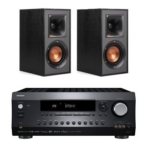 DRX-2.1 7.2 Channel Network A/V Receiver with Klipsch R-41M Reference Bookshelf Speakers - Pair