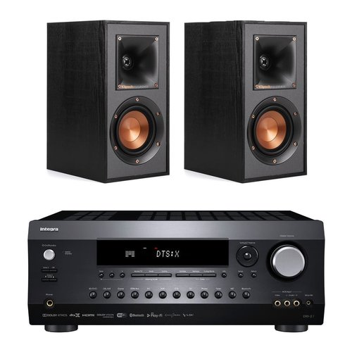 Integra DRX-2.1 7.2 Channel Network A/V Receiver + Klipsch R-41M Reference Bookshelf Speakers (Pair)