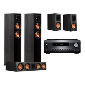 DRX-2.1 7.2 Channel Network A/V Receiver with Klipsch RP-4000FE 5.0 Channel Speaker Package
