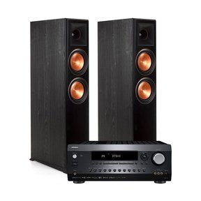 DRX-2.1 7.2 Channel Network A/V Receiver with Klipsch RP-6000F Reference Premiere Floorstanding Speakers - Pair (Ebony)