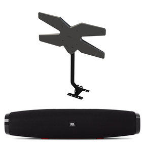 """15"""" Soundbar - Boost TV Compact Bluetooth Speaker System with Refurbished Mohu 60-Mile Attic/Outdoor HDTV Antenna"""