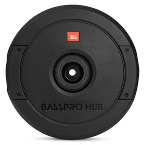 """BassPro Hub 11"""" Spare Tire Subwoofer w/ Enclosure and Built-In Amplifier"""