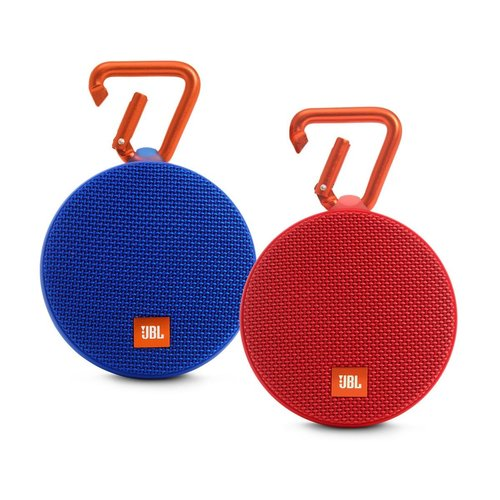 View Larger Image of Clip 2 Waterproof Portable Bluetooth Speaker Pair (Blue/Red)