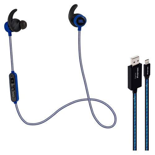 View Larger Image of Reflect Mini BT Bluetooth Sports In-Ear Headphones (Blue) with PipeLine Photon Lighted USB Cable - 3 Feet (Blue)