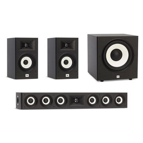 Stage A130 Bookshelf Speaker Pair with Stage A135C Center Speaker and Stage A100P Subwoofer