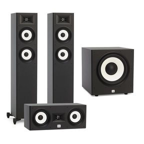 "Stage A170 Floorstanding Speaker Package with JBL Stage A125C Center Speaker and JBL A120P 12"" Powered Subwoofer"