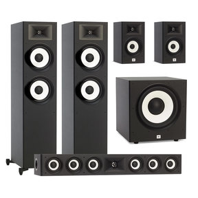 "Stage A190 5.1 Speaker Package with A100P 10"" Powered Subwoofer (Black)"