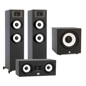 Stage A190 Floorstanding Speaker Pair with Stage A125C Center Speaker and Stage A100P Subwoofer