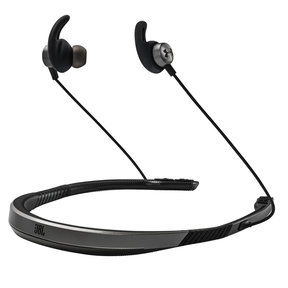 Under Armour Sport Wireless Flex In-Ear Headphones with Built-In Remote and Microphone (Gray)