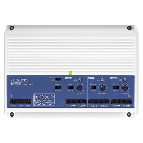 View Larger Image of M600/6 6 Ch. Class D Full-Range Marine Amplifier