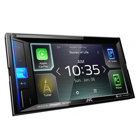"KW-M650BT 6.2"" Digital Media Receiver w/ Apple CarPlay and Bluetooth"
