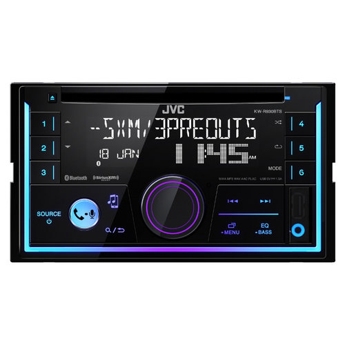 View Larger Image of KW-R930BTS Double-DIN CD Receiver w/ Bluetooth and USB/AUX Inputs