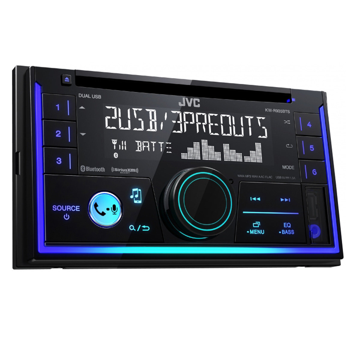 [DIAGRAM_09CH]  JVC KW-R935BTS Double-DIN CD Receiver w/ Bluetooth and Dual USB Inputs |  World Wide Stereo | Jvc Car Stereo Wiring Harness Pattern 530 |  | World Wide Stereo