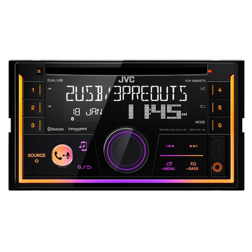 jvc kw r935bts double din cd receiver w bluetooth and. Black Bedroom Furniture Sets. Home Design Ideas
